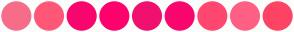 Color Scheme with #F66D8A #FF5778 #F9066E #FF016D #F0106F #F9076E #FF476F #FF6083 #FE4365