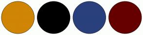 Color Scheme with #D08504 #000000 #29407C #660000