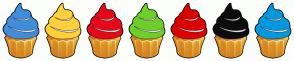 Color Scheme with #418DDB #FED13A #E6091A #6ECF28 #DE0202 #0D0D0D #0299DE