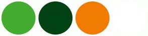 Color Scheme with #45AC32 #004213 #EF7C00 #FFFFFF