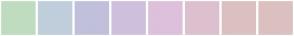 Color Scheme with #C0DCC0 #C0CEDC #C0C0DC #CEC0DC #DCC0DC #DCC0CE #DCC0C0 #DCC0C0