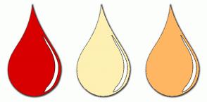 Color Scheme with #D80000 #FDF0B2 #FFB662