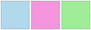 Color Scheme with #B0D9EB #F595DD #A0ED98