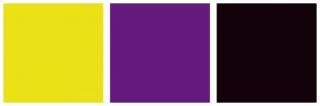 Color Scheme with #EBE117 #65197D #14020A