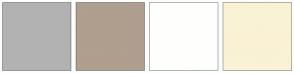 Color Scheme with #B2B2B2 #B09E8E #FEFFFD #FAF2D4