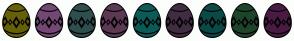 Color Scheme with #666108 #734875 #2F4F4F #5D3954 #0B5C58 #412D42 #0B4A47 #1E452C #4A1B43