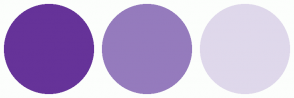 Color Scheme with #663399 #957BBD #DFD8EB