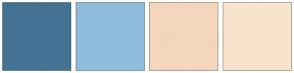 Color Scheme with #447294 #8FBCDB #F4D6BC #F8E4CC