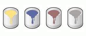 Color Scheme with #FEE484 #606BA4 #9E7171 #A7A4A4