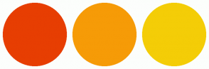 Color Scheme with #E73E02 #F69B07 #F4CD07