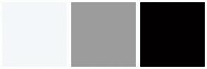 Color Scheme with #F4F7F9 #9C9C9C #020000