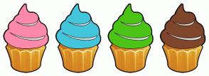 Color Scheme with #FC89AC #43C6DB #4CC417 #7F462C