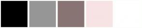 Color Scheme with #000000 #969696 #897474 #F7E3E3 #FFFFFF