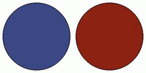 Color Scheme with #3C4884 #8C2212