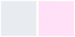 Color Scheme with #E8ECF1 #FFE0F6