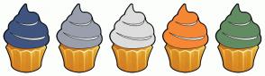 Color Scheme with #3F547F #999FAD #DDDDDD #F58735 #628B61