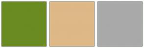Color Scheme with #698B22 #DEB887 #A9A9A9