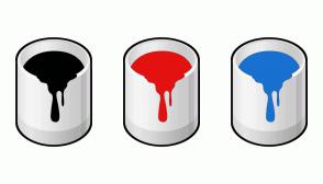 Color Scheme with #000101 #E41111 #1870D1