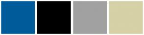 Color Scheme with #005B9A #000000 #A1A1A1 #D6D1A7