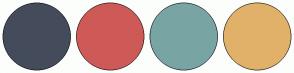 Color Scheme with #444C5C #CE5A57 #78A5A3 #E1B16A
