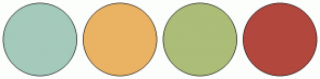 Color Scheme with #A4CABC #EAB364 #ACBD78 #B2473E