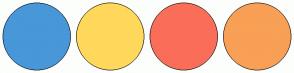 Color Scheme with #4897D8 #FFD85C #FA6E59 #F8A055
