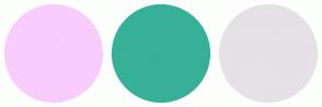 Color Scheme with #F8CCFC #37B098 #E5E1E6