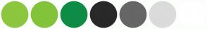 Color Scheme with #8DC63F #83C33A #0E8C45 #292929 #666666 #DBDBDB #FFFFFF