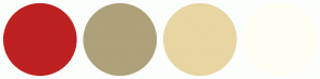 Color Scheme with #BD2121 #AEA17A #E7D5A2 #FFFEF3