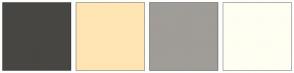 Color Scheme with #474643 #FFE5B4 #A09C97 #FFFEF2