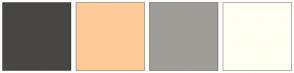 Color Scheme with #474643 #FECB98 #A09C97 #FFFEF2