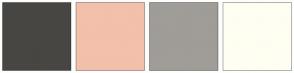 Color Scheme with #474643 #F3C0AB #A09C97 #FFFEF2