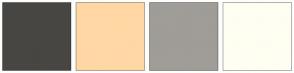 Color Scheme with #474643 #FFD7A4 #A09C97 #FFFEF2