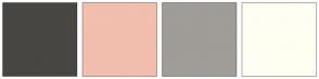 Color Scheme with #474643 #F2BEAE #A09C97 #FFFEF2