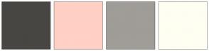Color Scheme with #474643 #FFD0C4 #A09C97 #FFFEF2