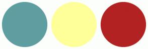 Color Scheme with #5F9EA0 #FFFF99 #B22222