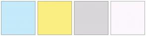 Color Scheme with #C5EAFA #FAEE82 #D9D7D9 #FCF7FC