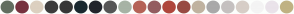 Color Scheme with #626E60 #76323F #DCD0C0 #3C3C3C #373737 #1A2930 #22252C #565656 #A7B3A5 #B56357 #945D60 #AF473C #984B43 #C0B3A0 #A9A9A9 #C5C1C0 #D7CEC7 #F4F4F4 #EAE3EA #C0B283