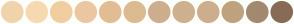Color Scheme with #F1D3AC #F7D9B1 #F1CE9F #ECC7A2 #E2BD93 #DCBB91 #CEAE8D #CEB18E #CEAE8D #BFA27E #A3896F #886B55