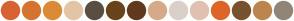Color Scheme with #D66331 #D4742F #DB8B35 #E3C5A6 #594E42 #69431A #61391C #D6AA89 #D9D0CA #E0C1B1 #DE6528 #76522E #BC854E #918578