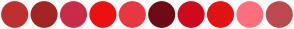 Color Scheme with #BF3030 #A42424 #C72C48 #EE1010 #E9383F #6E0B14 #CF0A1D #E21313 #FF6F7D #BD4A4F