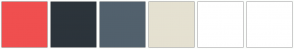 Color Scheme with #F04F4F #2C343B #52616D #E5E1D1 #FFFFFF #FFFFFF