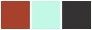 Color Scheme with #A7412B #C2F9E6 #343232