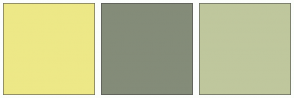 Color Scheme with #EDE887 #848C79 #BFC79D