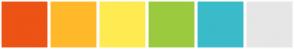 Color Scheme with #ED5314 #FFB92A #FEEB51 #9BCA3E #3ABBC9 #E6E6E6