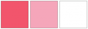 Color Scheme with #F2556C #F5A6BA #FFFFFF