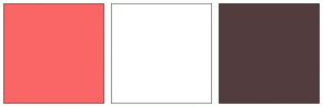 Color Scheme with #FA6666 #FFFFFF #523C3D