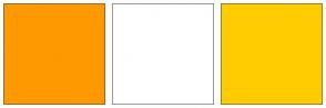 Color Scheme with #FF9900 #FFFFFF #FFCC00