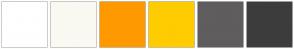 Color Scheme with #FFFFFF #FAF9F2 #FF9900 #FFCC00 #5F5D5D #3D3C3C