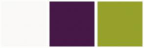 Color Scheme with #FAF9F7 #451847 #95A12A